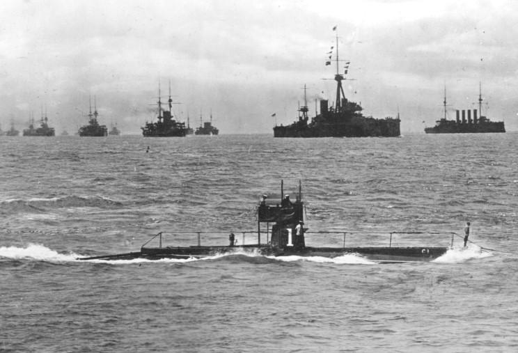 British ships in blockade of Germany, date and place uncertain.