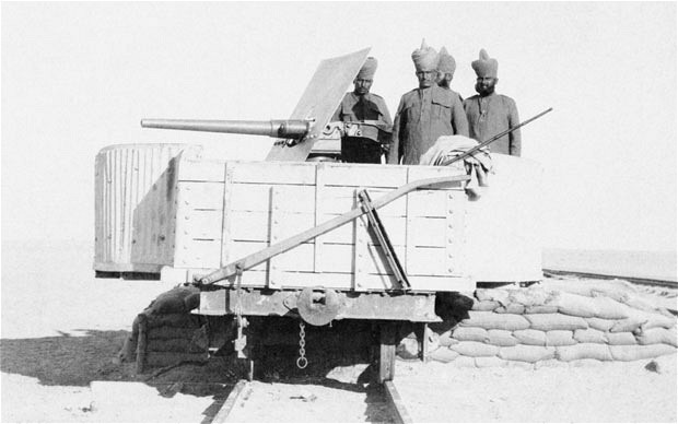 Indian troops with British in Mesopotamia, date and place uncertain.
