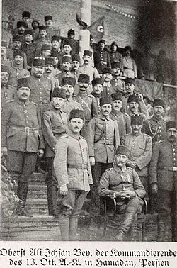 Turks on campaign in Persia, summer 1916.