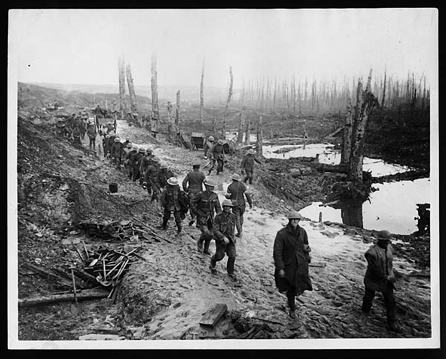 The shattered landscape at the Somme, likely dated August 1916.