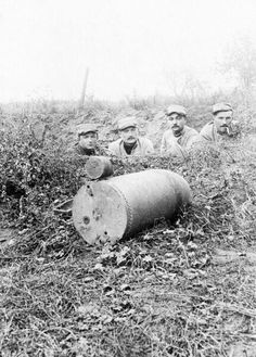 Massive unexploded German shell, the Somme August 1916.