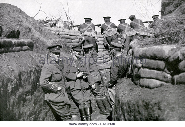 British troops in the trenches at Salonika, autumn 1916.