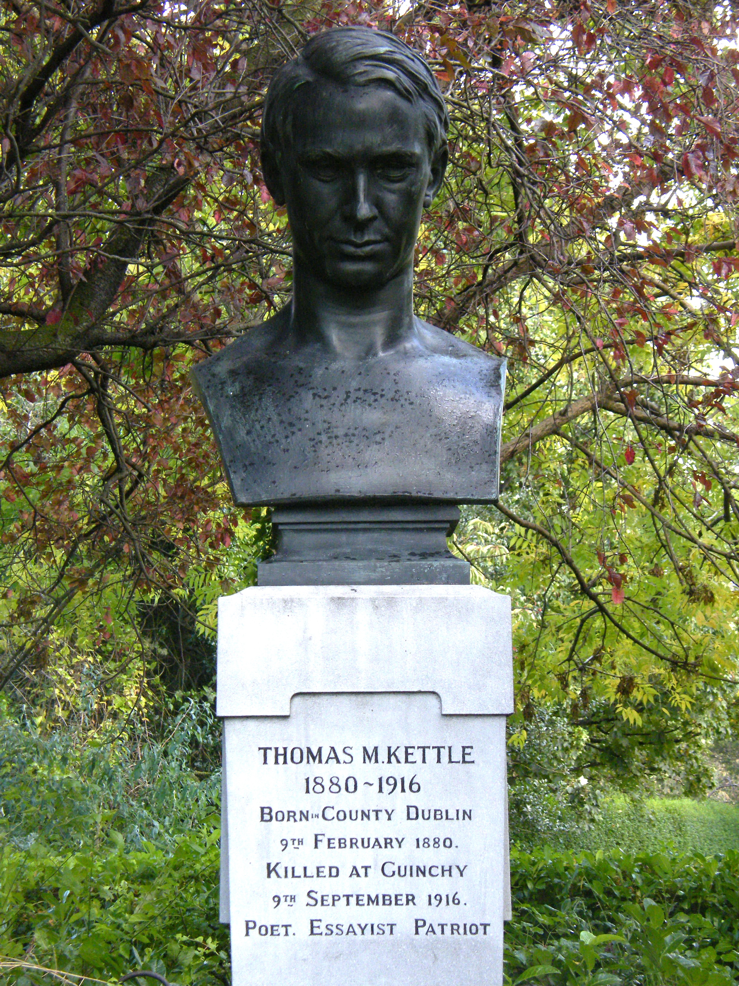 Tom Kettle memorial, Born County, Dublin.