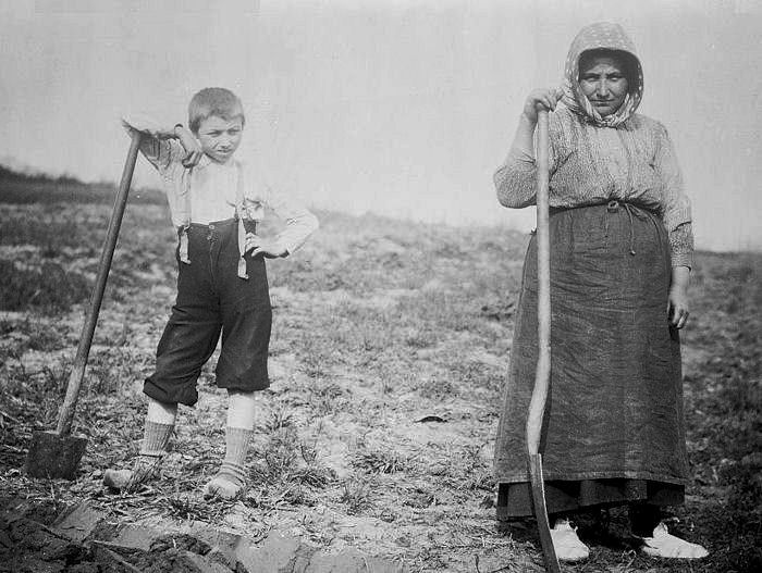 Belgian women maintain the farms as men forced into labor in Germany.
