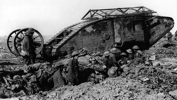 Some of the tanks were quickly destroyed.