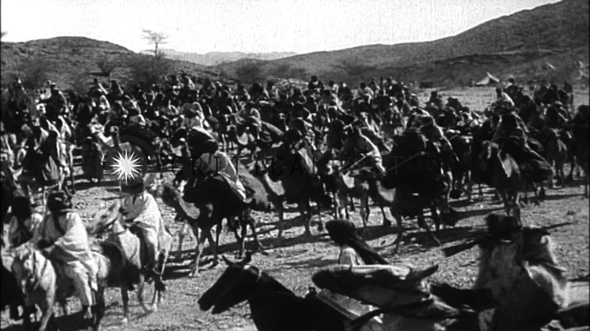 Arab troops in the Arab Revolt, date uncertain.