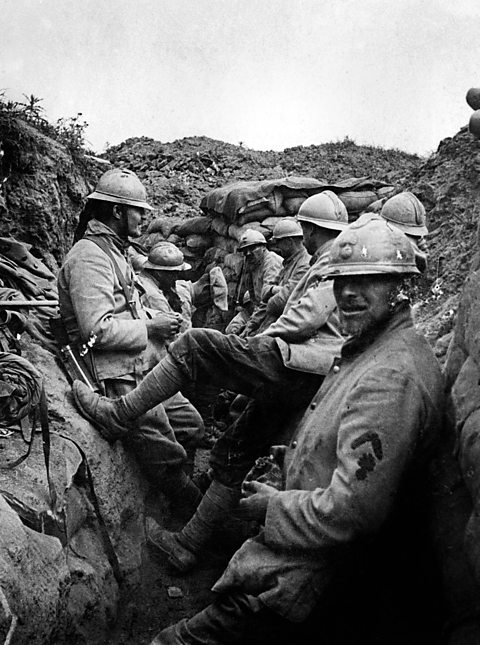 French trenches at Verdun.