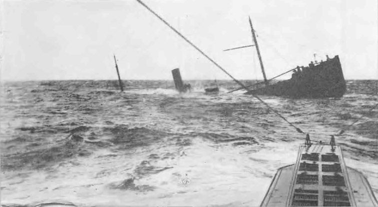 German U-boat sinks Allied merchant ship, date and place uncertain.