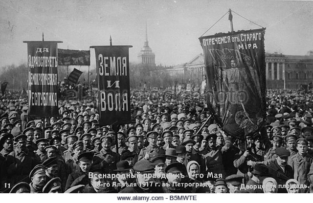 Anti-war protest in Russia, 1917.