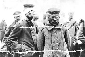 German prisoners of war in Russia.