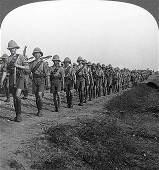 The British march to Baghdad.