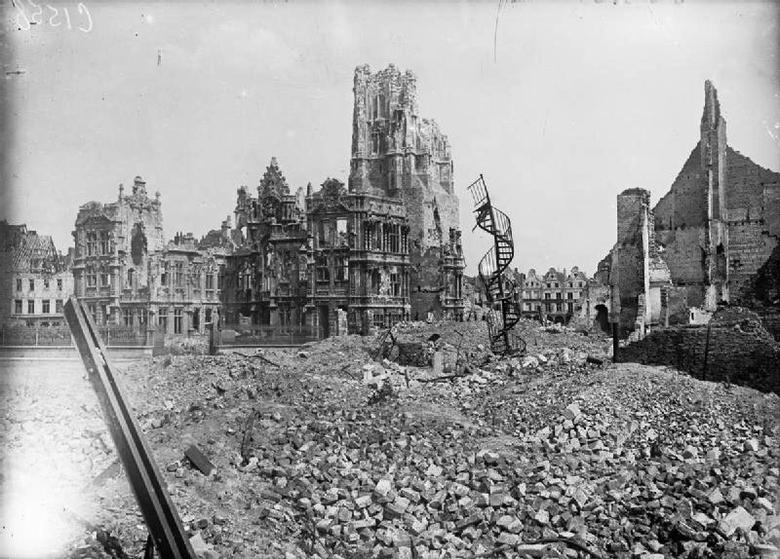 The destruction at Arras, April 1917.