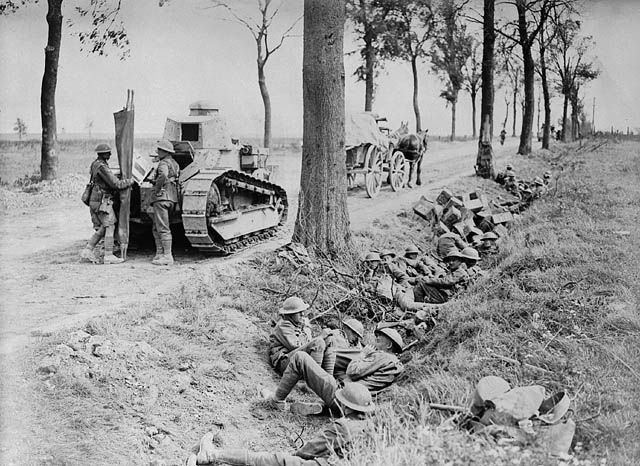 Canadian troops at rest, near Arras , April 1917.