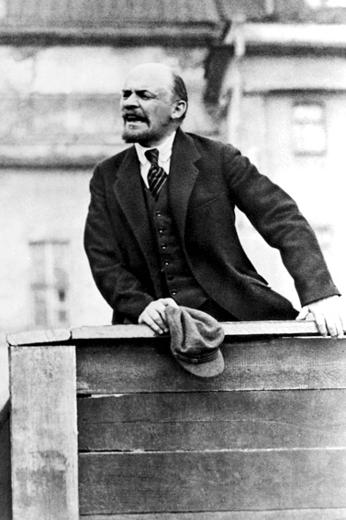 Lenin, the Bolshevik leader back in Russia.