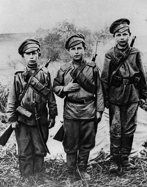 Boy soldiers in Russia