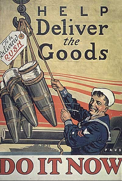 Pro war poster urging US navy to get involved.